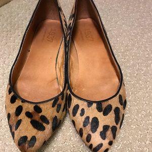 MADEWELL sidewalk skimmer in leopard